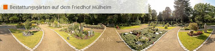 Bestattungsgärten auf dem Friedhof Mülheim